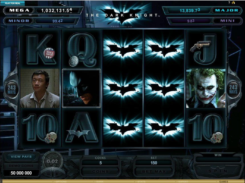 dark knight video slots
